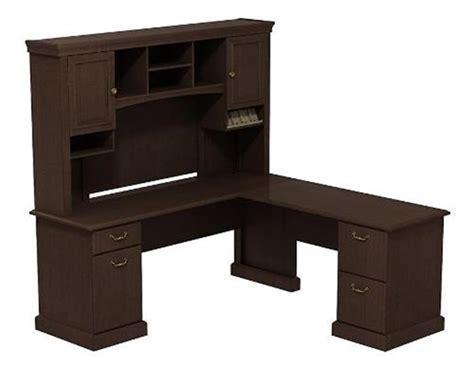 Bush Syn008 L Shaped Desk With Hutch Bush L Shaped Desk With Hutch