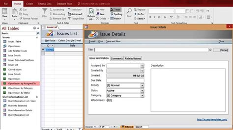 database templates microsoft access templates and database exles