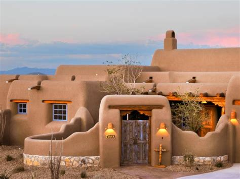 adobe home in new mexico southwestern exterior 10 spanish inspired outdoor spaces hgtv