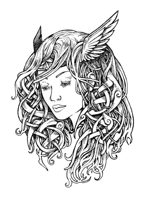 norse valkyrie tattoo designs valkyrie design ink drawing my drawings