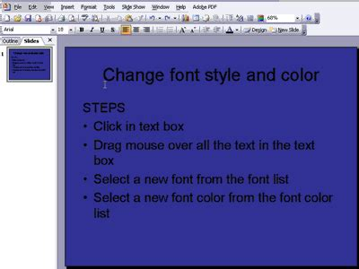how to change font color in change font colors and styles on powerpoint slides