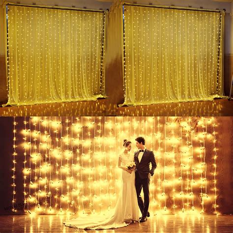drapes and lights for weddings excelvan 24v 6x3m 600 led curtain string fairy light xmas