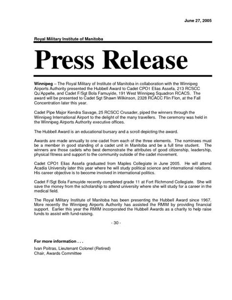event press release template word news release format template business