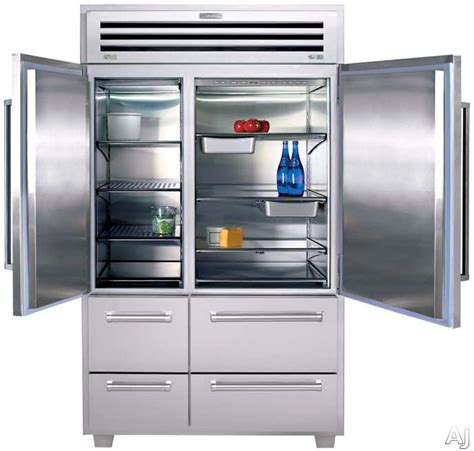 sub zero freezer drawers with ice maker sub zero 648pro 48 inch built in side by side refrigerator