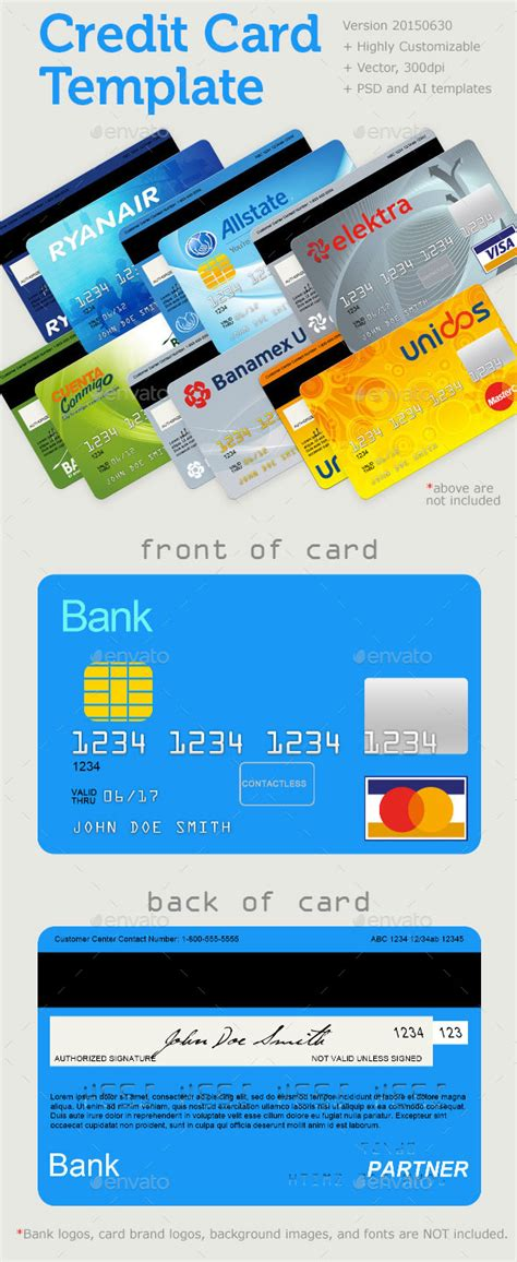 credit card template by lymdul graphicriver