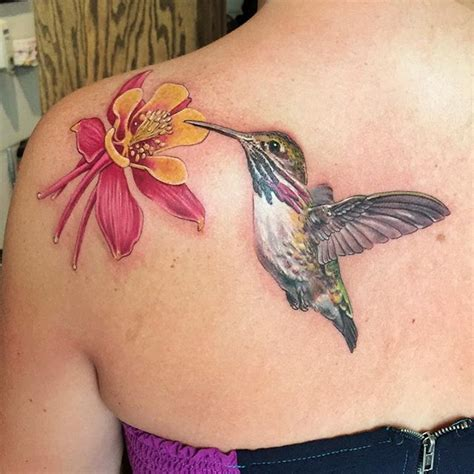 hummingbird tattoo realism george bardadim tattooist nyc