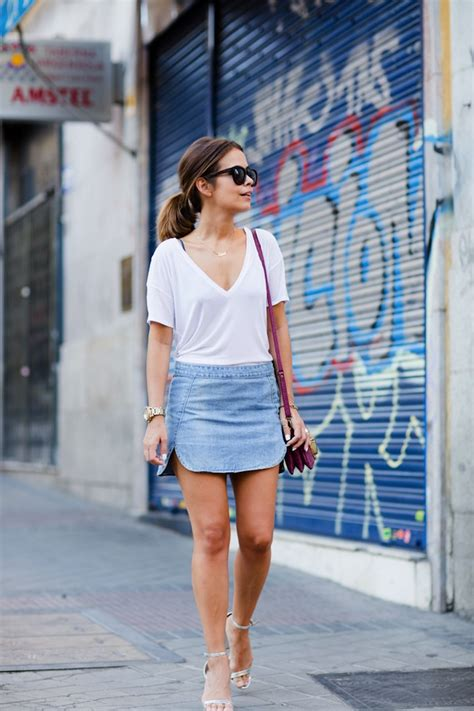 21 looks that will make you buy a denim skirt style ph