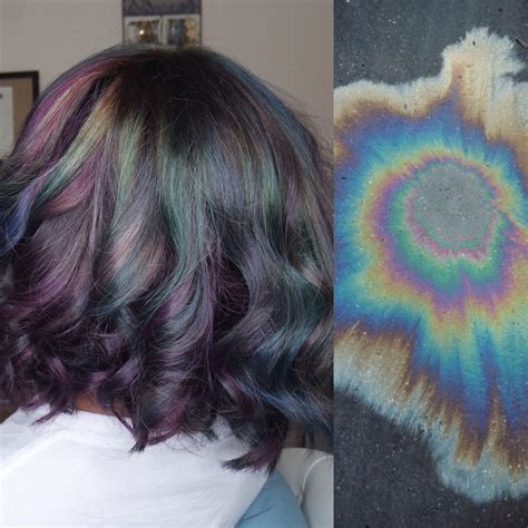 iridescent hair color spill slick iridescent hair color tutorial