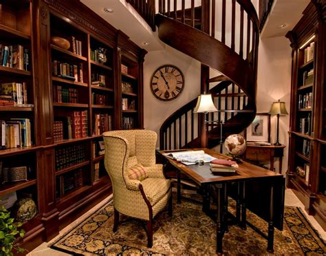 interesting traditional home library design ideas simple