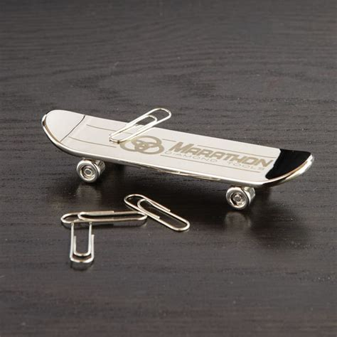 How To Make Paper Skateboard - printed skateboard rolling magnetic paper clip holder