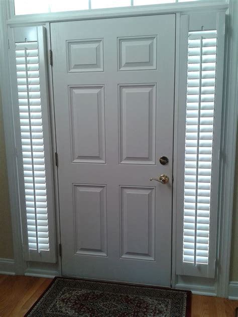 Window Coverings For Front Door Sidelights 9 Best Images About Plantation Shutters By Southern Accent Shutters On A Well