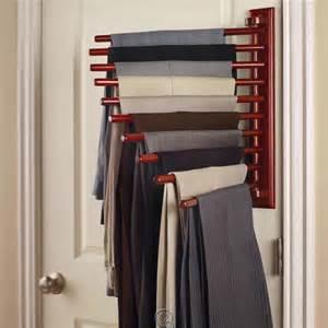 the closet organizing 10 pair trouser rack extends