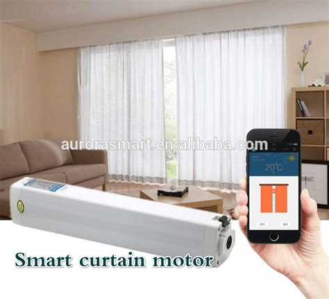 automatic curtains electric curtain rod system dual
