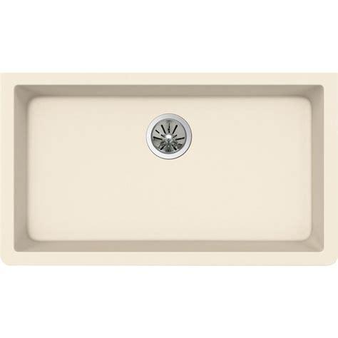 Elkay Premium Quartz Undermount Composite 33 In Single Quartz Kitchen Sink