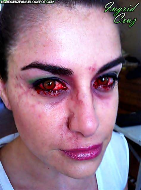 imagenes de ojos de zombie la preciosa ingrecita de ojos rojos en la prueba de