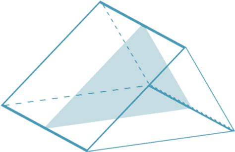 cross section of a triangular prism teacher resources geometric drawings including