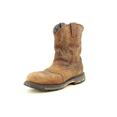 mens work boots uk mens ariat workhog pull on boots boots and heels 2017