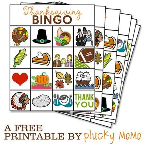 free printable thanksgiving picture cards 8 best images of printable thanksgiving bingo game