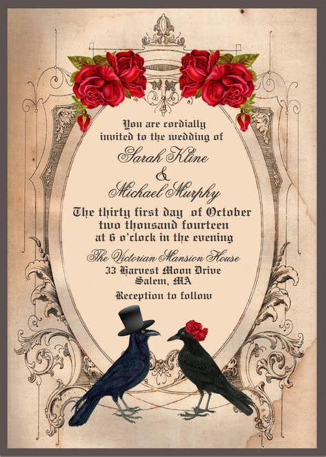 printable halloween wedding invitations 22 halloween wedding invitation templates free sle