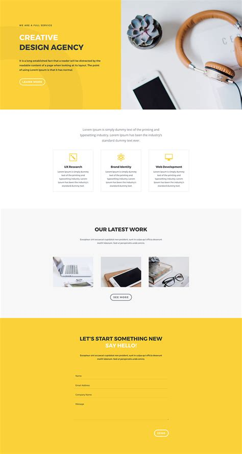 home page layout design view located on the ribbon is referred to as download a free impressive design agency layout pack for