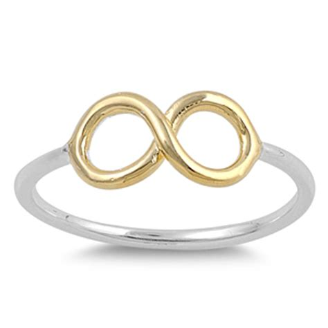 infinity ring new 925 sterling silver plain band ebay