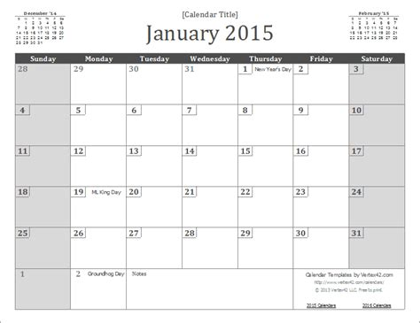 Picture Calendar Template 2015 2015 calendar templates and images