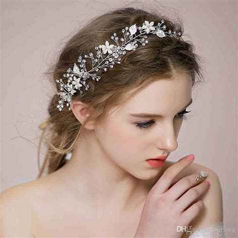 2015 New Style Bridal Hair Accessories Hair Band Silver/Gold Crystal Pearls Pretty Bride Wedding