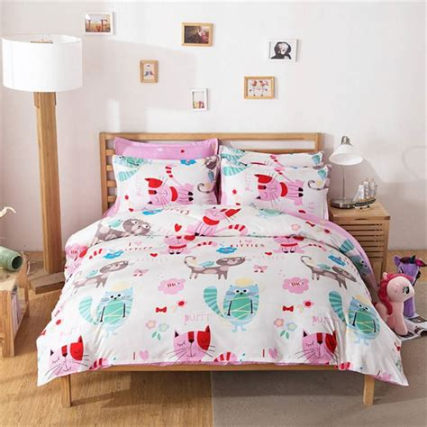 cat comforter sets cat bedding set colored printed comforter cover cartoon