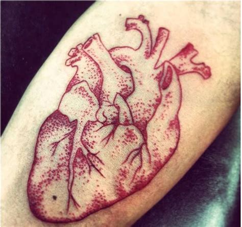 realistic heart tattoo real drawing www imgkid the image kid