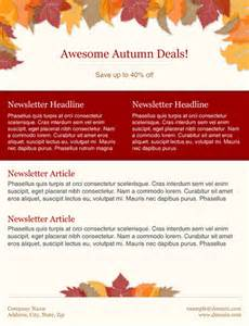 Fall Newsletter Templates by Free Fall Newsletter Templates Free Printable Flyer