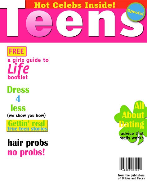 teen magazine cover template www pixshark com images