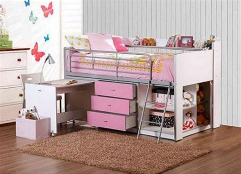 Bunk Bed With Desk And Storage And Modern White Bunk Beds With Storage