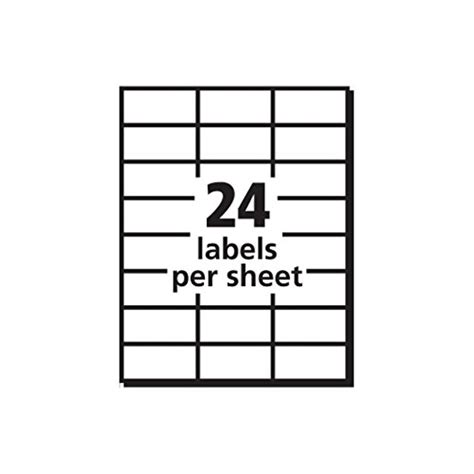 avery labels 24 per sheet template avery white copier mailing labels ave5363 office supplies general supplies tags address