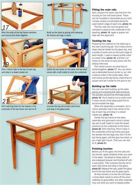 Display Coffee Table Plans Display Table Plans Woodarchivist