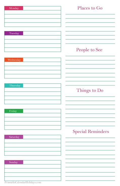 free printable weekly planner template printable weekly planner template printable 2017 calendar