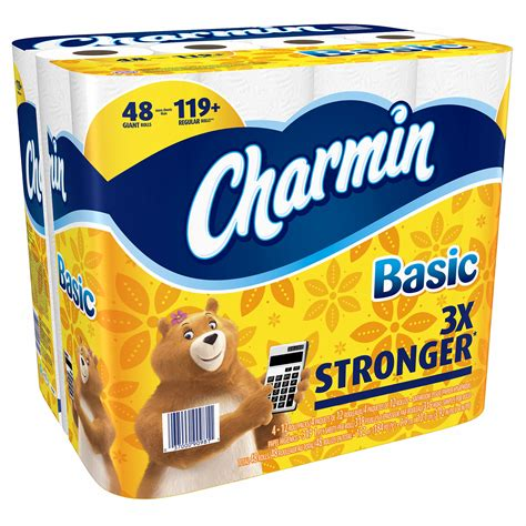 What Company Makes Charmin Toilet Paper - charmin basic toilet paper rolls 48 count bjs
