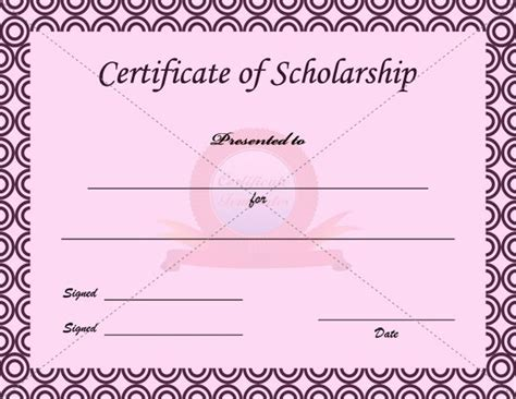 template for scholarship award certificate 1000 images about certificate template on pinterest