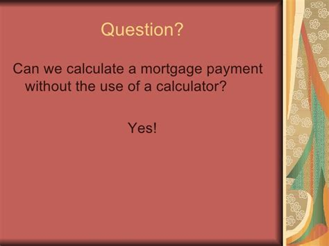 how to calculate house loan payment how to calculate a mortgage payment
