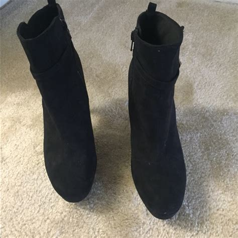 55 h m shoes black heeled boots from mona s closet