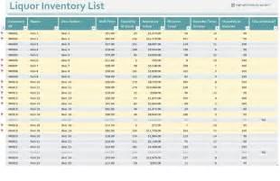 bar inventory control bar inventory control sheets