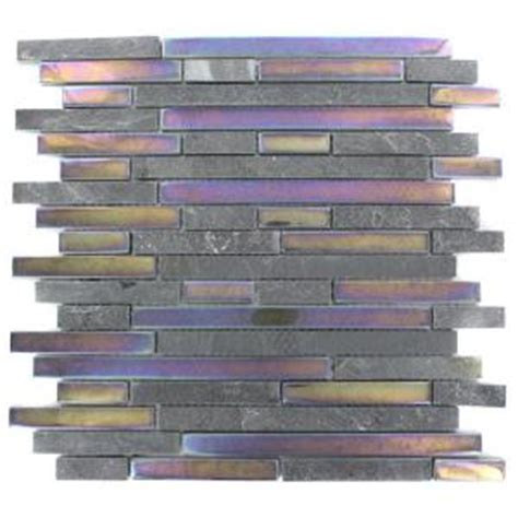 splashback tile tectonic harmony black slate and rainbow