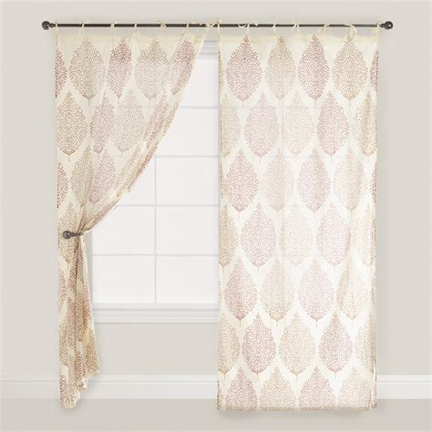world market drapes rust kashvi patterned crinkle voile curtain world market