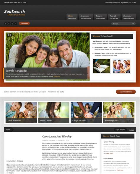 church joomla template 10 of the best church charity non profit joomla