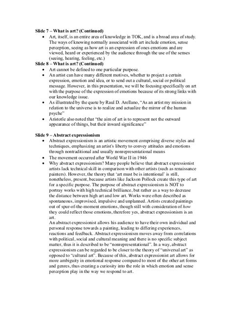 Tok Theory Of Knowledge Presentation Script To What Presentation Script Template