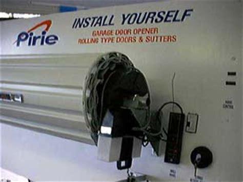 Electric Roller Garage Door Kits by Garage Door Automatic Opener Diy Kits By Pirie Enterprises
