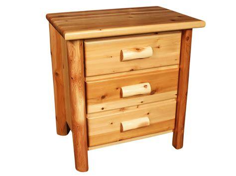 bedroom night stands 3 drawer rustic log nightstand nightstands bedroom rooms