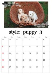 printable puppy calendars templates  calendars  print  images  puppies  dogs