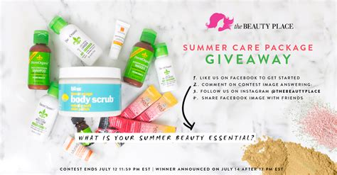 thebeautyplace com summer care package giveaway - Free Government Giveaway Package