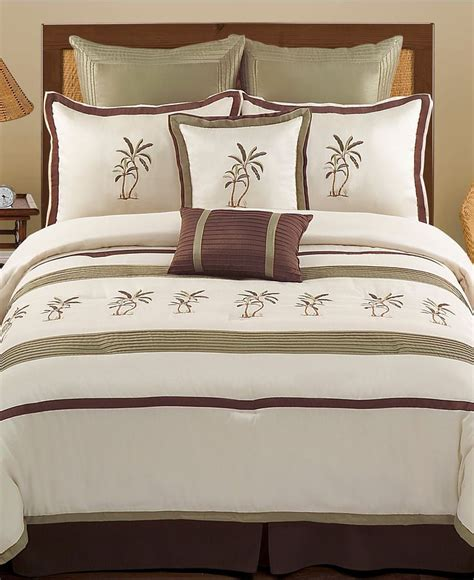 montego bay 8 piece queen comforter set bed in a bag
