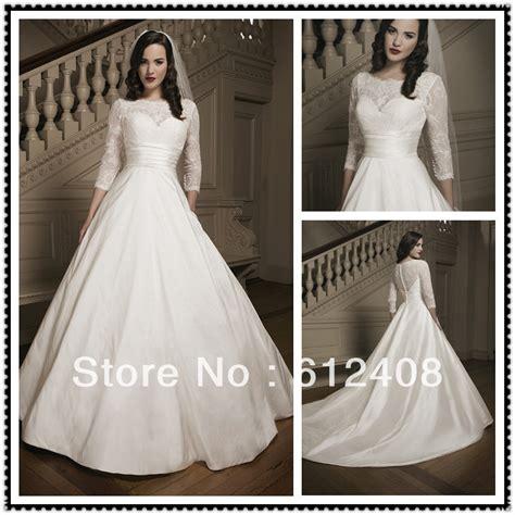 boat neck long sleeve wedding dress la10013 arablic long sleeve boat neck ball gown pleated